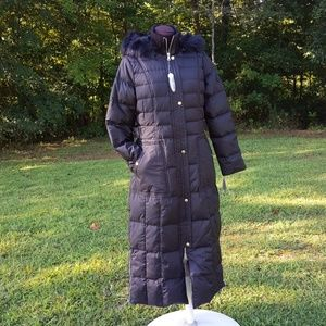 NWT Larry Levine Maxi W/Removable Hood Coat S